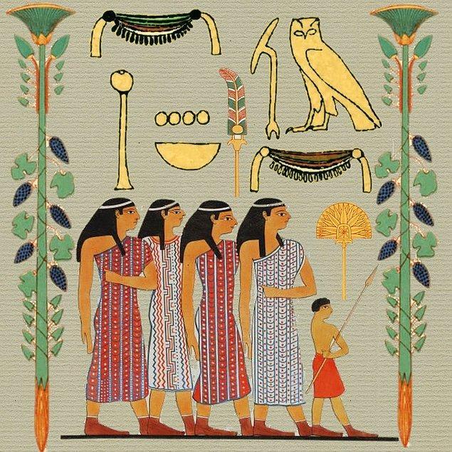 1. Antik Mısır'da kadınlar da erkeklerle aynı haklara sahipti.
