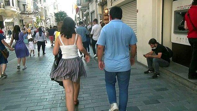 Uzun süre kadının arkasından yürüyen adam, videonun sonunda polisler tarafından göz altına alındı. Daha sonra da bu kişinin tutuklandığı haberini de okumuştuk.