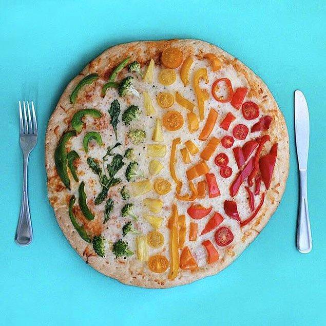 5. Diyete başlamanın en iyi yolu: yiyemeyecek kadar güzel bir pizza.
