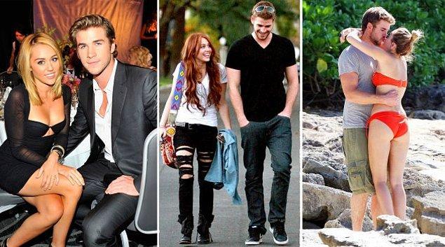 6. Miley Cyrus - Liam Hemsworth