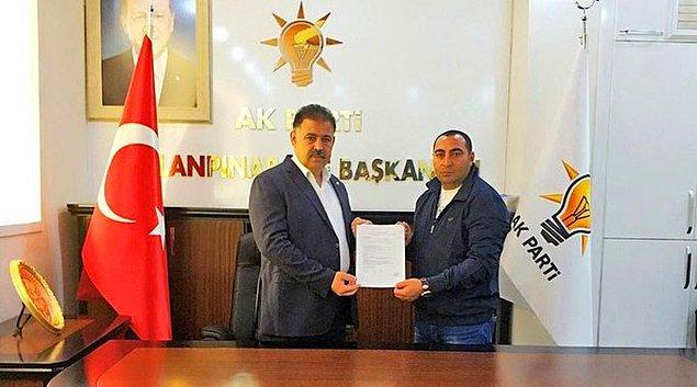 Hamit Aslanalp'in daha önce AKP'den Urfa Ceylanpınar belediye başkanlığı için aday adayı olduğu öğrenildi.