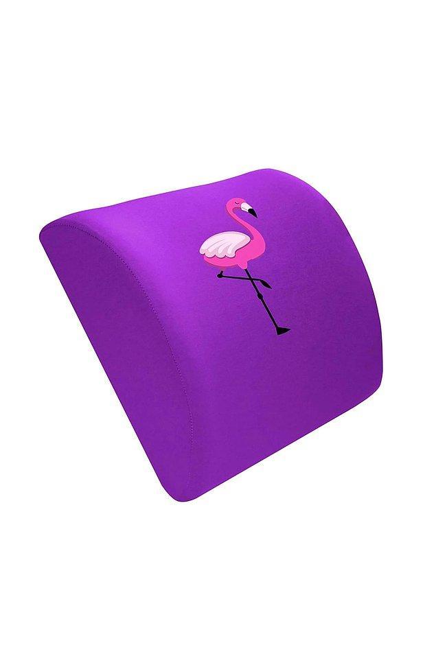 5. %100 ortopedik Visco yastık, rengi ve deseniyle onun kalbini çalabilir. Oturarak çalışan kişiler için ideal.