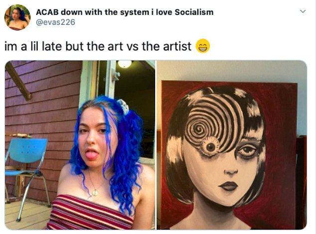 """38. """"Biraz geç kaldım ama sanat vs sanatçı."""""""