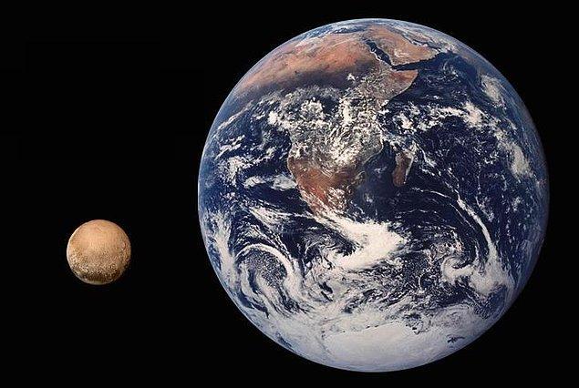 Plüton'un çapı 2376 kilometredir.