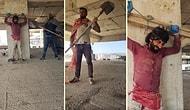 Battal Gazi Filmindeki Kutsal Hac Öpme Sahnesini Canlandıran İnşaat İşçilerinden Harika TikTok Videosu