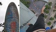 150 Metre Yüksekliğindeki Gökdelene Çıplak Ayak ile Tırmanan Adrenalin Bağımlısı Genç