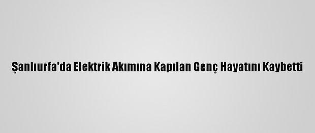 Şanlıurfa'da Elektrik Akımına Kapılan Genç Hayatını Kaybetti