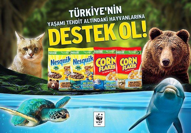 Nestlé Kahvaltılık Gevrekler ve WWF-Türkiye işbirliği ile yaşamı tehdit altında olan hayvanları gelin birlikte koruyalım!