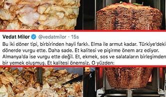 Türkiye'deki ve Yurt Dışındaki Döneri Karşılaştıran Vedat Milor'un Acıktıran Yeni Tartışma Gündemi
