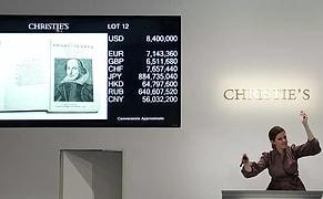 Rekor Fiyat: Shakespeare'in 'Birinci Folyo'su 10 Milyon Dolara Satıldı