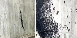 'Sosyal Mesafeye Uymayan Kalabalığın Derin Bir Çatlak Oluşturduğu' Muhteşem Sokak Sanatı