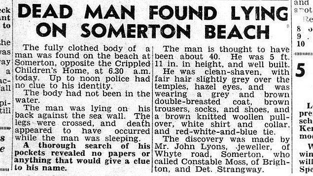 Harflerin yanı sıra bir de telefon numarası bulan polisler, numarayı aradıkları zaman cesedin bulunduğu sahile birkaç dakikalık yürüme mesafesinde oturan bir hemşireye ulaşıyor.