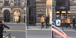 2 Korumasıyla Berlin Sokaklarında Alışverişe Çıkan Angela Merkel
