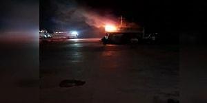 Maltepe'de Tadilat İçin Demirli Gemide Yangın