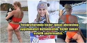Dünya Şampiyonu Kayakçı Lindsey Vonn, Vücuduyla İlgili Acımasız Eleştiri Yapanlara Selülitli Fotoğrafıyla İsyan Etti!
