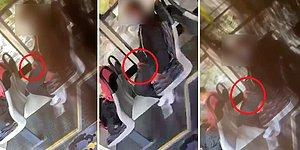 Onca İnsanın İçinde, Otobüste Bir Kadına Bakarak Mastürbasyon Yapan Erkeğin İğrenç Görüntüleri