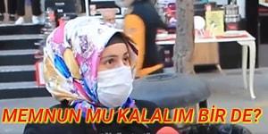 'Ekonomiden Memnun musunuz?' Sorusuna 'Hayır, Dolar Almış Başını Gitmiş' Diyen Ancak Seçim Olsa AKP'ye Veririm 'Memnunuz' Diyen Kadın