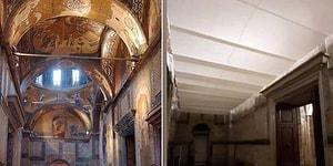 Camiye Çevrilen Kariye'nin Freskleri Perdeyle Kapatıldı