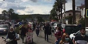 İzmir Seferihisar'da Yaşanan Deprem Sonrası Deniz Taştı Her Yer Su Altında Kaldı