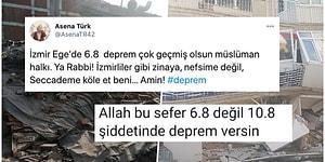 6.6 Büyüklüğündeki İzmir Depremi Sonrası Sosyal Medyada Yapılan Kan Dondurucu Yorumlar ve Paylaşımlar