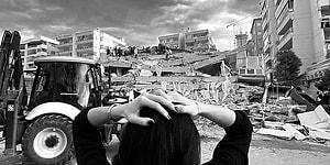İzmir'de Yaşanan 6,6 Büyüklüğündeki Depremde Vatandaşlar Tarafından Kaydedilen Korkutucu Görüntüler