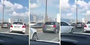 İzmir Depremi Sırasında Bir Viyadükte Kaydedildiği İddia Edilen Görüntülerde Beşik Gibi Sallanan Arabalar