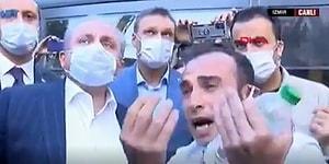 İzmir'de Depremzede Vatandaştan Meclis Başkanı Şentop'a: 'Enkazın Altında 4 Yavrum ve Annem Var, Onların Cesetlerini İstemiyorum'