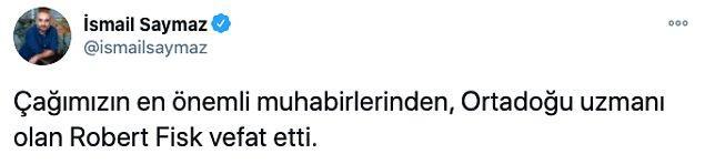 Efsanevi gazetecinin ölümü sosyal medyanın da gündemindeydi...