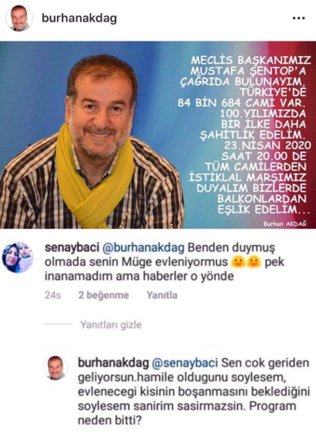 Burhan Akdağ Müge Anlı'nın hamile olduğu imasında bulunmuştu!