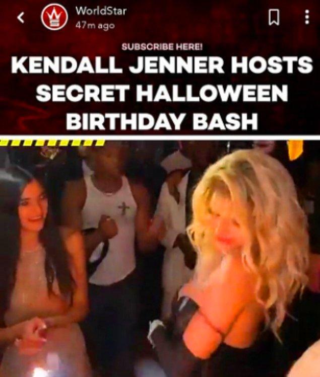 3. Hiçbir pandemi kuralını dinlemeden doğum günü için Cadılar Bayramı'yla birlikte felekten bir gece çalan Kendall Jenner!