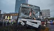 Ankara'da Kırmızı Işıkta Geçen Otobüs Başka Bir Otobüse Çarptı: 17 Yaralı