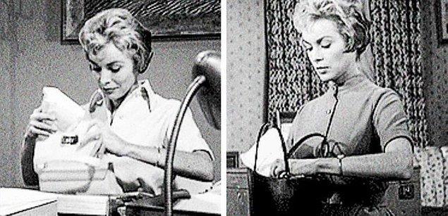 8. 'Sapık' filminde Marion'un aksesuarları her etkinlik sonrasında beyazdan siyaha değişmektedir.