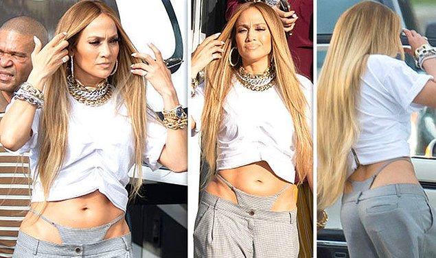 9. Jennifer Lopez bir klip çekimine bu kombinle katılmıştı.