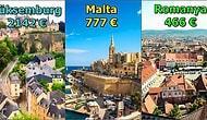 26 Ülke Arasında Türkiye Sondan İkinci Sırada: Hangi Avrupa Ülkesi Euro Bazında Ne Kadar Asgari Ücret Veriyor?