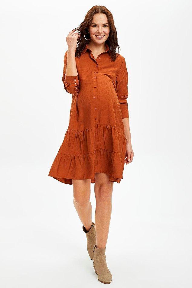 7. Elbise sevenler için de çok güzel seçenekler var. Dökümlü rahat elbiselerden hoşlanıyorsanız buna göz atın derim.