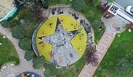 Çocuk Parkındaki Görseller Terör Örgütü Bayrağına Benzetilince Söküldü