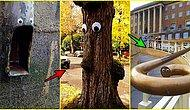 Bir Çift Göz ile Ne Kadar Yaratıcı Olunabilir ki? Basit Ama Oldukça Eğlenceli Bir Sokak Sanatı: Eyebombing