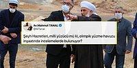AKP'li Başkan Olimpik Havuzun Temelini Tarikat Şeyhi ile Attı, Tepkiler Gecikmedi: 'Şeyh Hazretleri Milli Yüzücü mü?'