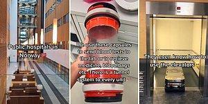 Uzay İstasyonunu Andıran Görüntüleri ile Norveç'te Bir Devlet Hastanesi