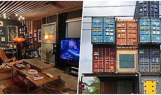 Kimsenin Tasarımını Beğenmediği İçin Sadece 11 Tane Nakliye Konteyneri Kullanarak Ev Yapan Adam