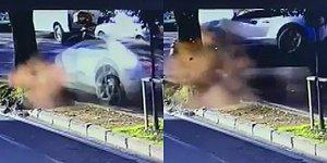 Enes Batur'un Ölümden Döndüğü Kaza Anı Kamerada