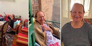 Her Gün Büyükannesinin Evine Giderek Sürpriz Yapan Torunun Yaşlı Kadını Aşırı Mutlu Ettiği Kalp Isıtan Görüntüler