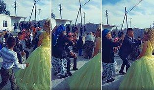 Yaşınız Kaç Sizin Evleniyorsunuz? Düğün Sırasında Bir Kadın Tarafından Oturduğu Yerden Kaldırılan Damadın Bir Garip Görüntüleri