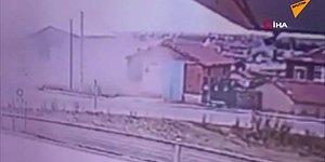 Takla Atan Araçtan Uçan Sürücü Evin Çatısına Düştü