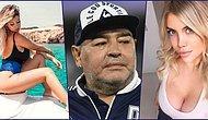 Ölümüyle Futbol Camiasını Yasa Boğan Dünyaca Ünlü Futbolcu Maradonayla Cinsel İlişkiye Girdiği İddia Edilen Wanda Nara Kimdir, Kaç Yaşında ?