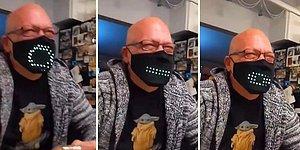 Ağız Hareketlerine Göre Üzerindeki Led Işıkların Şekil Aldığı Aşırı Eğlenceli Maske