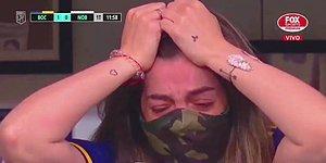 Boca Juniors Oyuncularının Gol Sevinci Sırasında Maradona'nın Kızı Gözyaşlarına Boğuldu