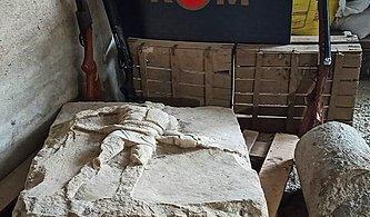 İki Bin Yıllık Gladyatör Rölyefi Çanakkale'de Ele Geçirildi
