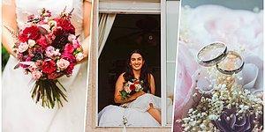Kovid-19'a Yakalandığı İçin Kendi Düğününe Odasının Camından Katılmak Zorunda Kalan Gelin