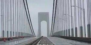 New York'taki Verrazano Köprüsü Şiddetli Rüzgarla Beraber Sallanmaya Başlamasının Ardından Ortaya Çıkan Ürkütücü Ses ve Görüntü